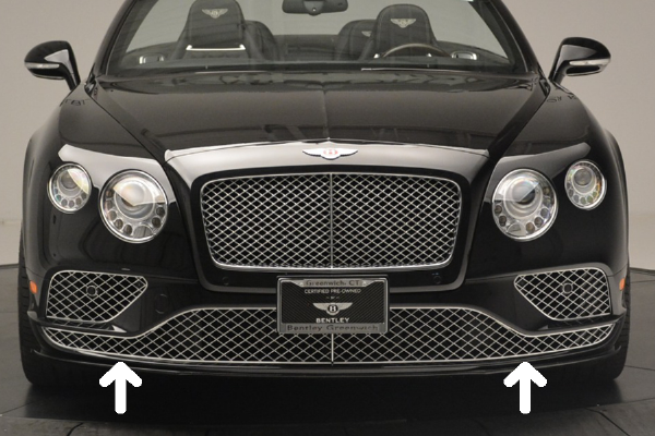 Genuine Bentley Continental GT/GTC 16-18 Lower Grille Set In Chrome